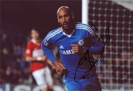 Nicolas Anelka, Chelsea & France, signed 12x8 inch photo.